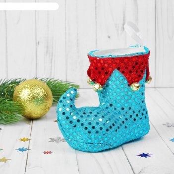 Подарочная упаковка сапожок, цвета микс