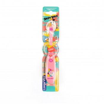 Зубная щётка детская longa vita twa-2 angry birds, музыкальная, от 3-х лет