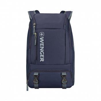 Рюкзак wenger, синий, полиэстер, 33x21x50 см, 28 л