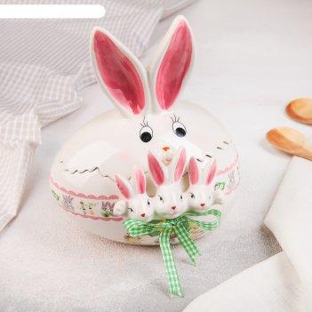 Конфетница пасхальный кролик 15,5х12х19 см