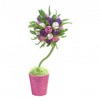 Набор для творчества малый топиарий. тюльпаны, микс