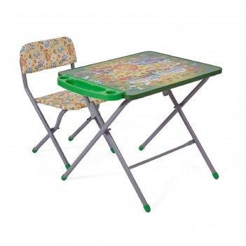 Комплект детской мебели фея досуг 201 алфавит зелёный