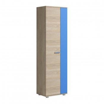 Шкаф для одежды 2 двери формула 582х400х1985 дуб сонома/голубой