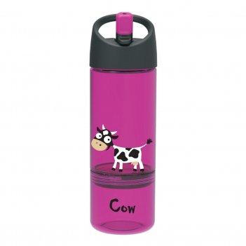 Детская бутылка 2в1 carl oscar cow фиолетовая