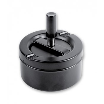 Пепельница s.quire круглая, сталь, покрытие черная краска