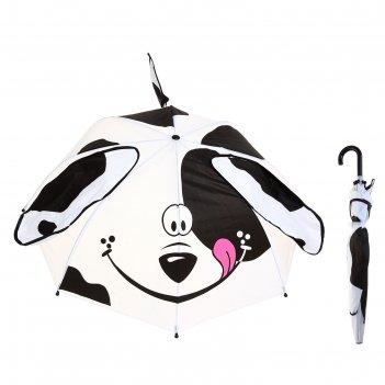 Зонт детский далматинец с ушками и хвостиком, диаметр 74 см