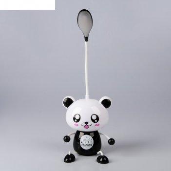 Лампа настольная панда led usb-провод 11х12х37 см