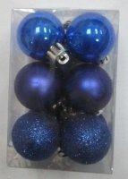 """Набор ёлочных игрушек """"шары"""" из 6шт. 60мм, синий"""