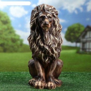 Садовая фигура лев шамот