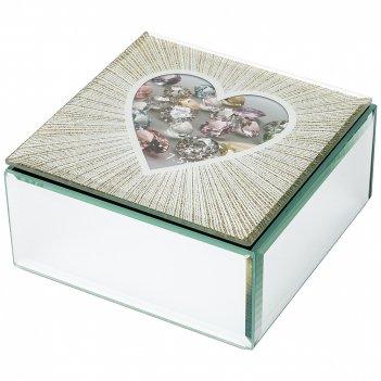 Шкатулка коллекция heart 12*12*6 см (кор=24шт.)