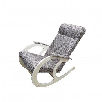 Кресло-качалка софия 530х1000х890 рогожка/дуб млечный