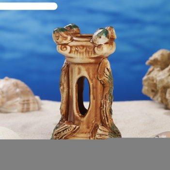 Декорации для аквариума колонна микс