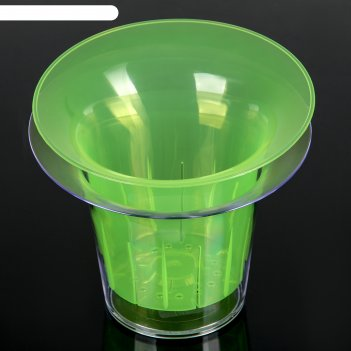 Кашпо для орхидеи 1 л адель, цвет зелёно-прозрачный