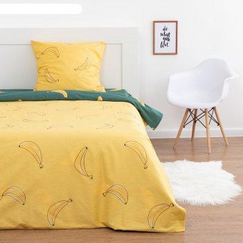 Постельное бельё 1.5 сп lovelife «банановый рай», 143х215 см,150х214 см,70