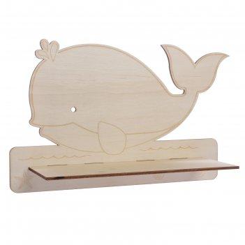 Декоративная полочка настроение: море (деревянная заготовка), 30,5 х 19,5