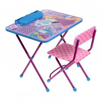 Набор детской мебели «рапунцель»: стол, пенал, стул мягкий