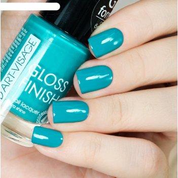 Лак для ногтей art-visage gloss finish, тон 127, тиффани