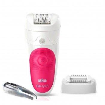 Эпилятор braun 5-531silk-epil, 2 скорости, массажер, пинцет с подсветкой