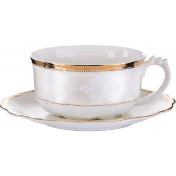 Чайный набор лилиан на 1 персону 2 пр. 375 мл. (кор=24набор.)