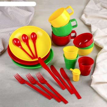 Дорожный набор посуды на 3 персоны в мягком футляре