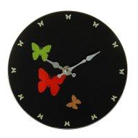 Часы настенные круг серия есения с подставкой бабочки d=17см