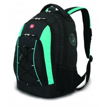 Рюкзак wenger, черный/синий, полиэстер, со светоотражающими элементами, 33