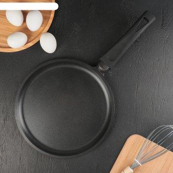 Сковорода блинная «премьера», d=24 см, пластиковая ручка, антипригарное по