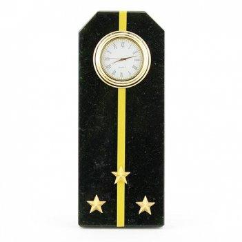 Часы погон старший лейтенант вмф камень змеевик
