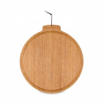 Доска разделочная круглая, диаметр: 28 см, материал: дуб, серия breakfast,
