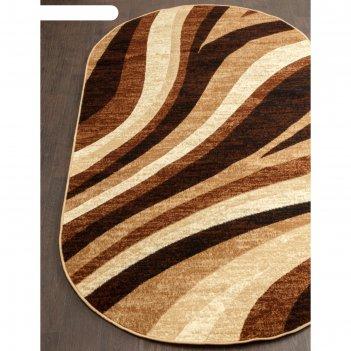 Овальный ковёр laguna d234, 180x350 см, цвет beige