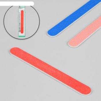 Пилка-наждак, абразивность 200/200, 18 см, цвет микс