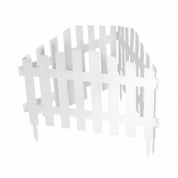 Забор декоративный марокко 28 x 300 см, белый россия palisad