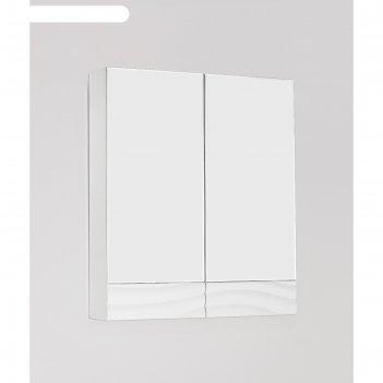 Зеркало-шкаф вероника 60, люкс белый