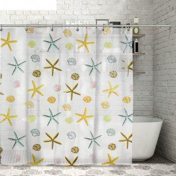 Штора для ванной морские звезды