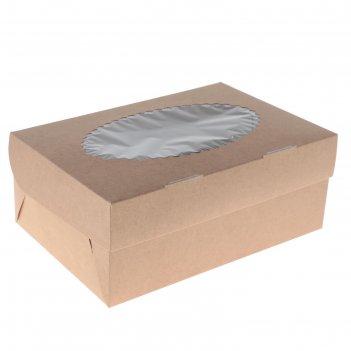 Упаковка для маффинов 25 х 17 х 10 см, на 6 шт