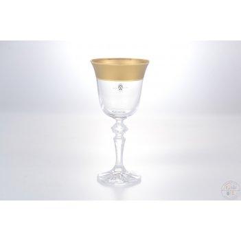 Набор бокалов для вина as crystal матовая полоса кристина 170мл(6 шт)