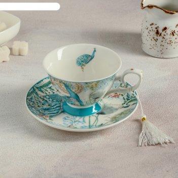 Чайная пара 220 мл жар-птица, блюдце 14,9 см