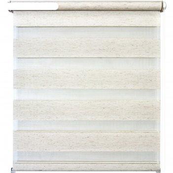 Рулонная штора день/ночь «канзас», 80х160 см, цвет натуральный