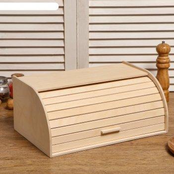 Хлебница деревянная буханка, 38x24.5x16.5 см