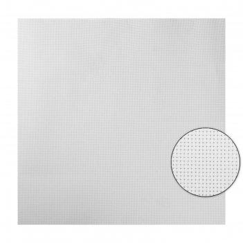 Канва для вышивания, № 11, 50 x 50 см, цвет белый, k03