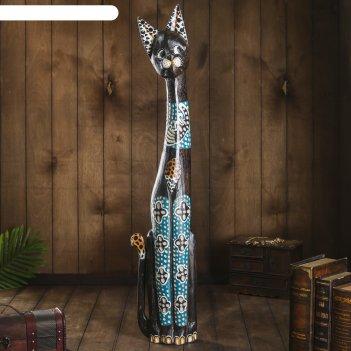 Сувенир дерево кошка с пятнистыми ушками 8х23х100 см