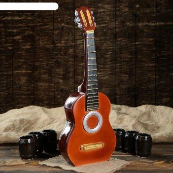 Штоф с рюмками гитара набор 7 предметов 3 л