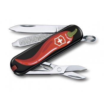 Нож-брелок victorinox classic chili peppers, 58 мм, 7 функций