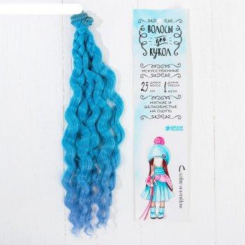 Волосы - тресс для кукол «волны» длина волос: 25 см, ширина: 100 см, №lsa0