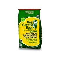 Уголь древесный, органический, крупнокусковой, вес: 9 кг, big green egg, с
