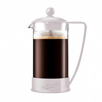 Френч пресс 600 мл ля кафе цвет белый