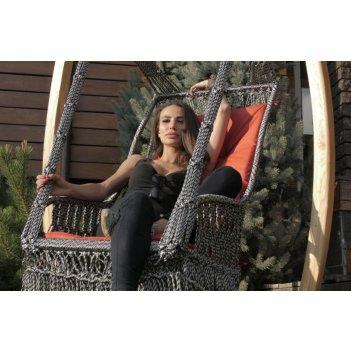 Подвесное плетеное кресло качели инка в комплекте с подушкой