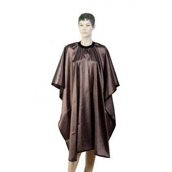 Пеньюар aa04 brown  для стрижки глянец, полиэстер, коричневый 128х146 см,