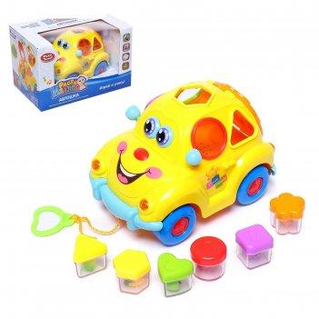 Развивающая игрушка машинка, световые и звуковые эффекты,сортер