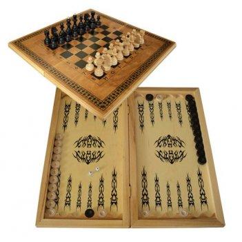 Шахматы смешаные бук тонированные